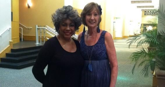 Carol with Mary Wilson