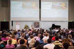 Shaffer addressing the DAAD Conference in Heidelberg as keynote speaker.