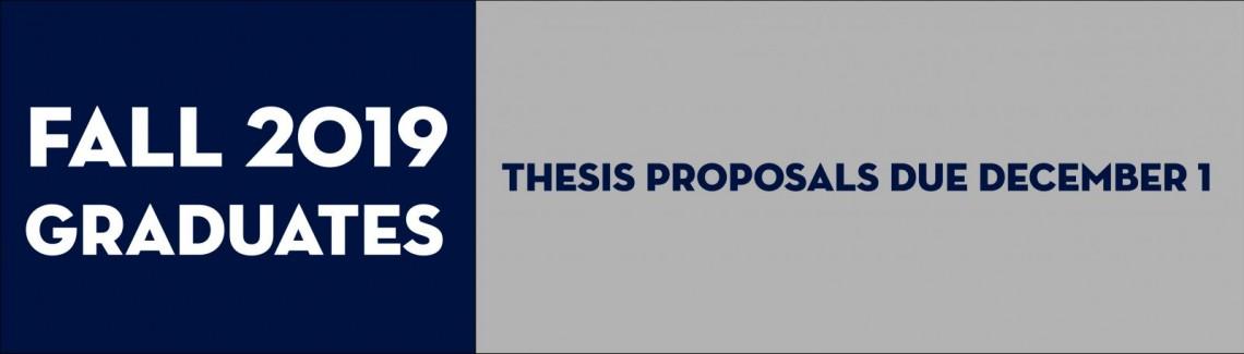 Fall 2019 Proposals