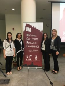 Eva Blais, Chelsea Rodriguez, Lacey Dennis and Kolyse Wagstaff at the National Collegiate Research Conference.