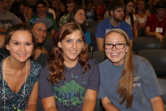 Students at the Honors Welcome Events - August 2015