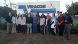 Dr. Denton's Honors class visiting Viracon in Statesboro, GA