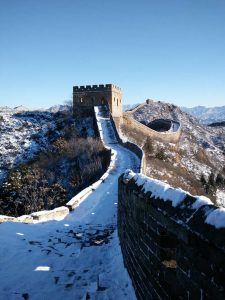 Snowy Great Wall in China