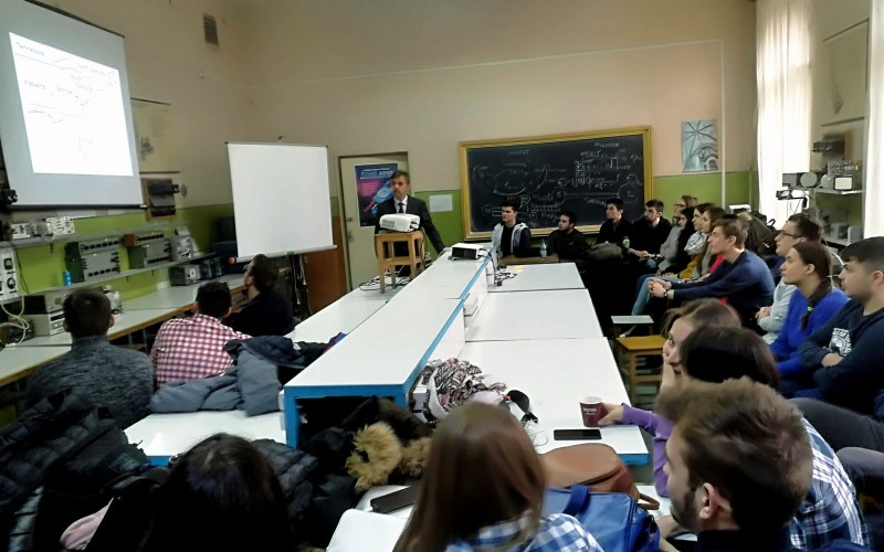 """March 22 – Prof. Felix Hamza-Lup, presented """"Web-based 3D User Interfaces"""", at the Transilvania University in Brasov, Romania."""