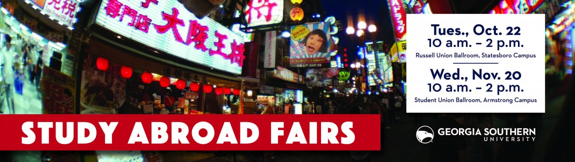 Study Abroad Fair Oct 22 and Nov 20