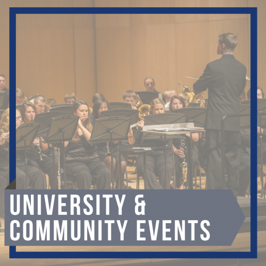university and community events