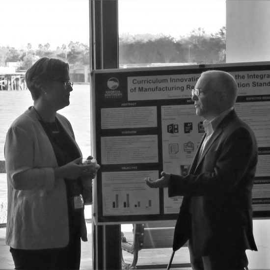Participants at the poster session