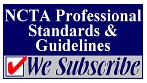 Logo for NCTA Professional Standards & Guidelines, to which the Georgia Southern Testing Center subscribes.