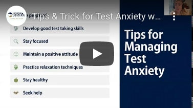 Tips & Tricks for text anxiety video