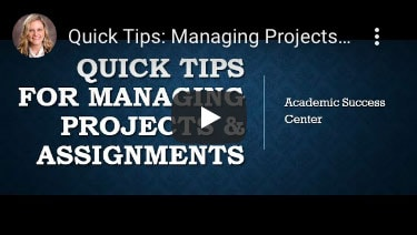 Quick Tips: Managing Projects and Assignments