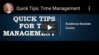 Quick Tips: Time Management video